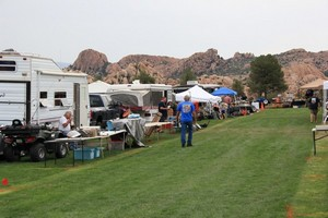 Swap area at Watson Lake Show in Prescott, AZ