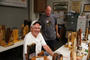 Building trophies for WLS car show